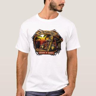 T-shirt de coucher du soleil de Davey Bonez Woody