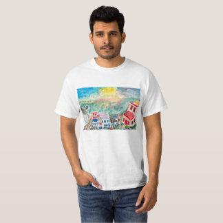 T-shirt de coucher du soleil de Mykonos