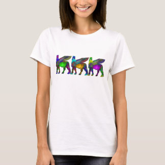 T-shirt de couleur de taureau à ailes par Assyrien