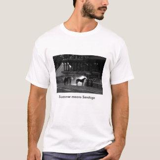 T-shirt de course de chevaux