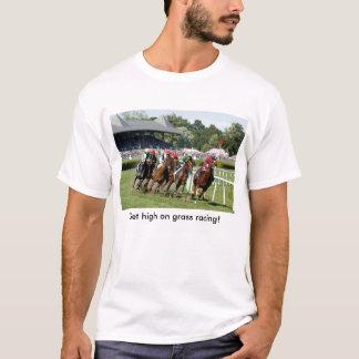 T-shirt de course de chevaux avec l'image de