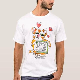 T-shirt de coutume de coeur de chat d'amour