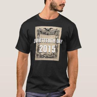 T-shirt de coutume du jour 2015 de Juneteenth le