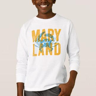 T-shirt de crabe du Maryland d'enfants