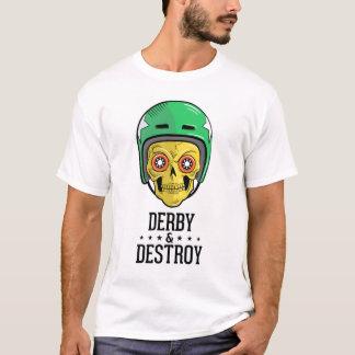 T-shirt de crâne de Derby de rouleau