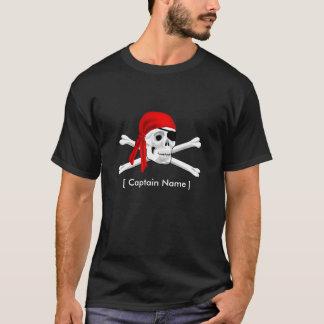 T-shirt de crâne de pirate et d'os de capitaine