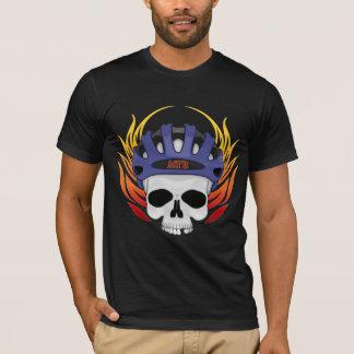 T-shirt de crâne de vélo de montagne