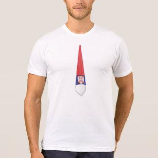 T-shirt de cravate de la Serbie