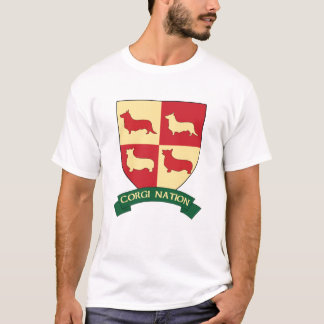 T-shirt de crête de nation de corgi
