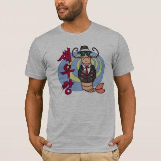 T-shirt de crevette de bandit - habillement