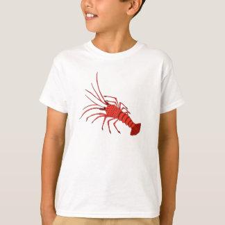 T-shirt de crevette rose pour des enfants