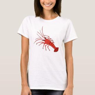 T-shirt de crevette rose pour des femmes