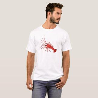 T-shirt de crevette rose pour les hommes