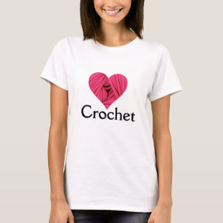 T-shirt de crochet d'amour