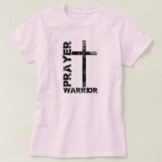 T-shirt de croix de guerrier de prière