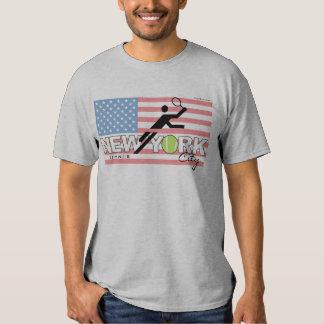 T-shirt de cru de tennis de New York City