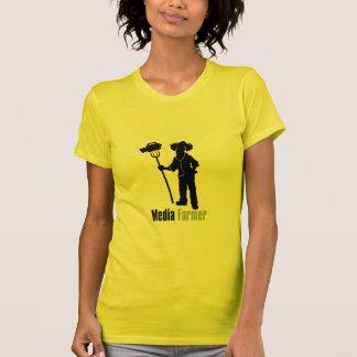 T-shirt de dames d'agriculteur de médias petit