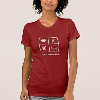 T-shirt de dames d'amant de liberté de GNOME