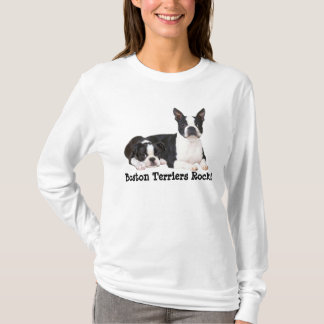 T-shirt de dames d'amis de Boston Terrier