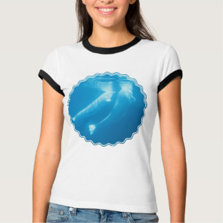 T-shirt de dames de baleines de beluga