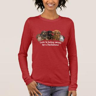 T-shirt de dames de bande de teckel