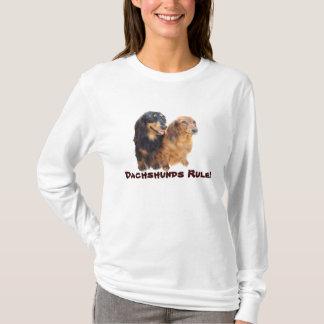 T-shirt de dames de bonbons de teckel