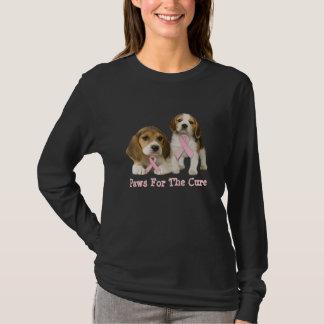 T-shirt de dames de cancer du sein de beagle