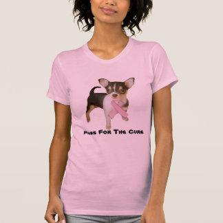 T-shirt de dames de cancer du sein de chiwawa