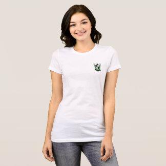 T-shirt de dames de crête de la Réunion
