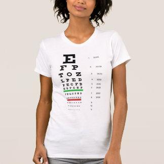 T-shirt de dames de diagramme d'oeil de Snellen