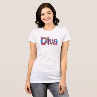 T-shirt de dames de diva
