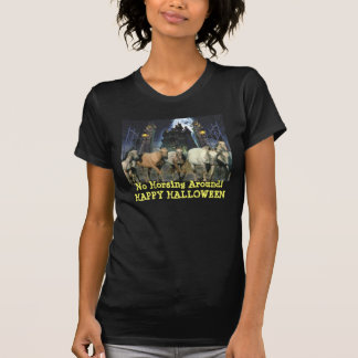 T-shirt de dames de Halloween de cheval