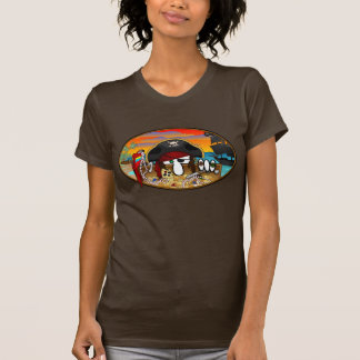 T-shirt de dames de Kilroy de pirate
