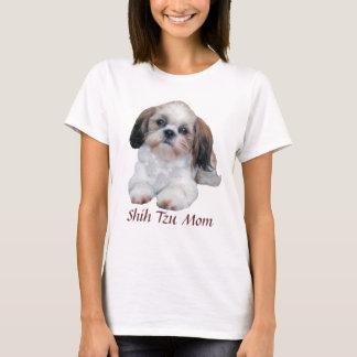 T-shirt de dames de maman de Shih Tzu