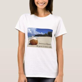 T-shirt de dames de plage de la République
