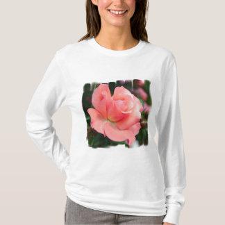 T-shirt de dames de rose de rose