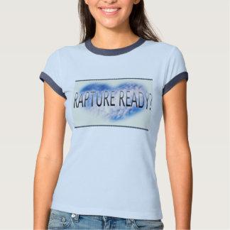 T-shirt de dames de sonnerie de marine de bleus