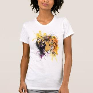 T-shirt de dames de tigre de graffiti