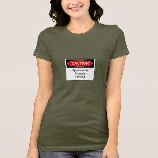 T-shirt de dames de vomissement de projectile