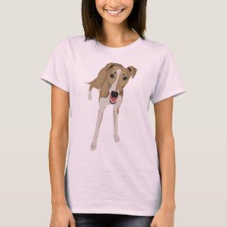 T-shirt de dames de whippet de faon
