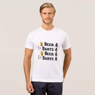 T-shirt de dards et de bière