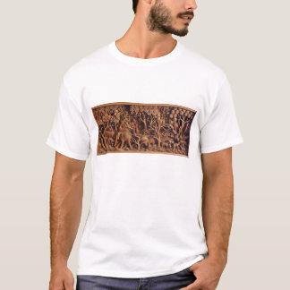 T-shirt de découpage en bois thaïlandais