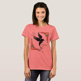 T-shirt De découverte de beauté le colibri partout fleurit