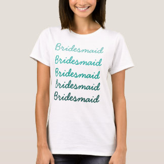 T-shirt de demoiselle d'honneur d'Ombre