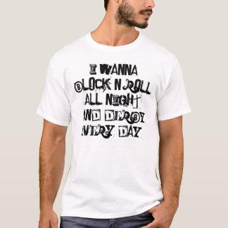 T-shirt de Derby de rouleau de petit pain du bloc
