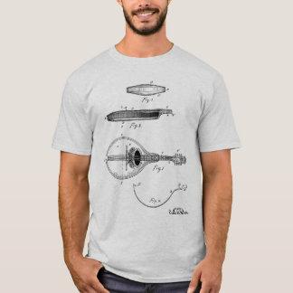 T-shirt de dessin de brevet de mandoline de Gibson