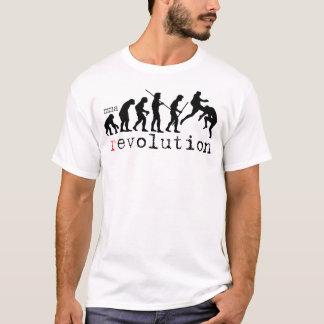 T-shirt de diagramme d'évolution de révolution de