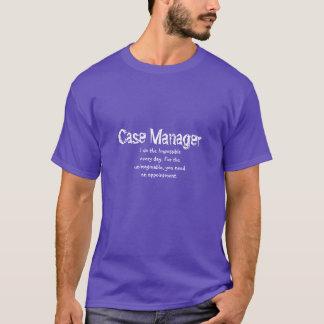 T-shirt de directeur de cas