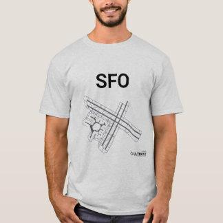 T-shirt de disposition d'aéroport de SFO