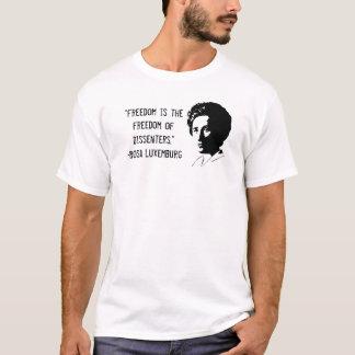 """T-shirt de dissidence de Rosa Luxemburg """"liberté"""""""